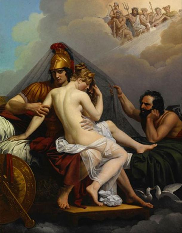 'Mars and Venus surprised by Vulcan' (1827) by Alexandre Charles Guillemot. (Public Domain)