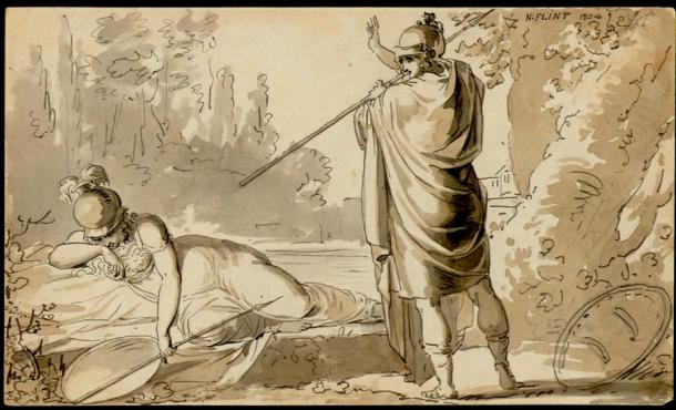 Mars with Minerva as War Goddess.