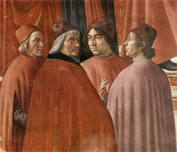 Marsilio Ficino was an influential humanist philosopher of the early Italian Renaissance. He revived Neoplatonism and was able to make several vital contributions to the history of Western thought. He can be seen here (on the left) in a fresco entitled the Zachariah in the Temple by Domenico Ghirlandaio. (Public domain)