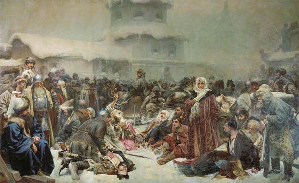 Martha the Mayoress at the Destruction of the Novgorod (Klavdiy Lebedev / Public domain)