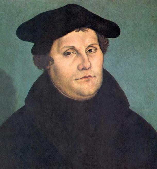 Martin Luther (1529) by Lucas Cranach the Elder.