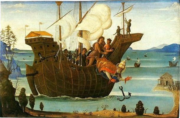 Martyrdom of St Clement by Bernardino Fungai (between 1498 and 1501). Image: Public Domain