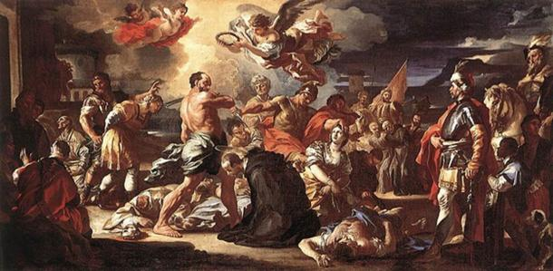 The Martyrdom of Sts Placidus and Flavia (1697-1708) by Francesco Solimena.