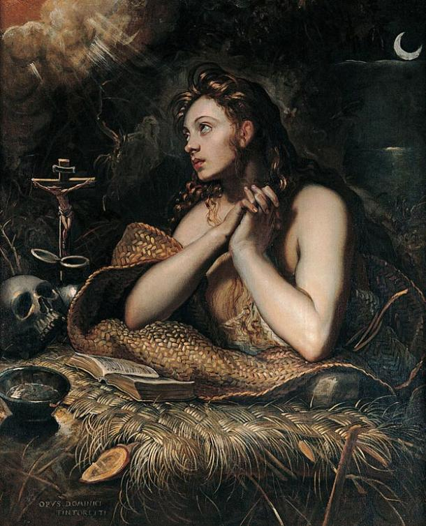 Mary Magdalene, by Domenico Tintoretto,  c. 1598