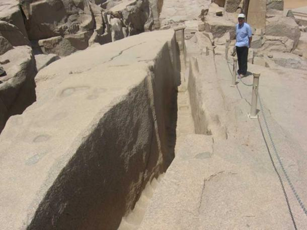 The Massive Unfinished Obelisk in Aswan, Egypt