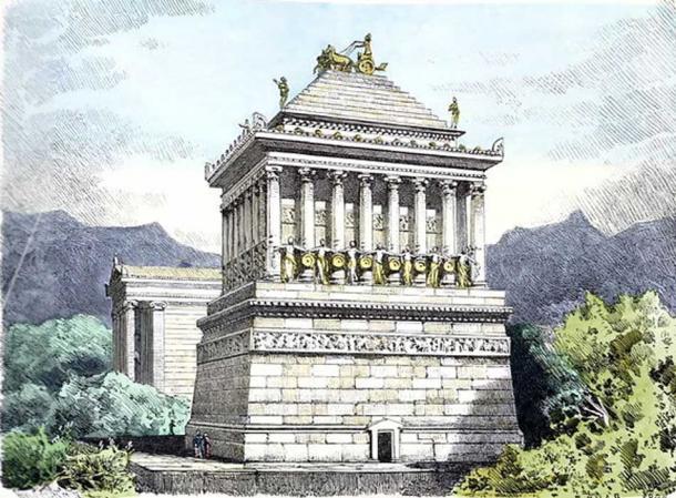 The Mausoleum at Halicarnassus, painting by Ferdinand Knab.