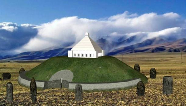 Sketches of the proposed Mausoleum for the Siberian Ice Maiden