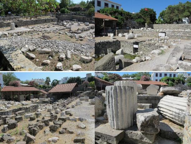 Photos of the Mausoleum or Halicarnassus, 2013.