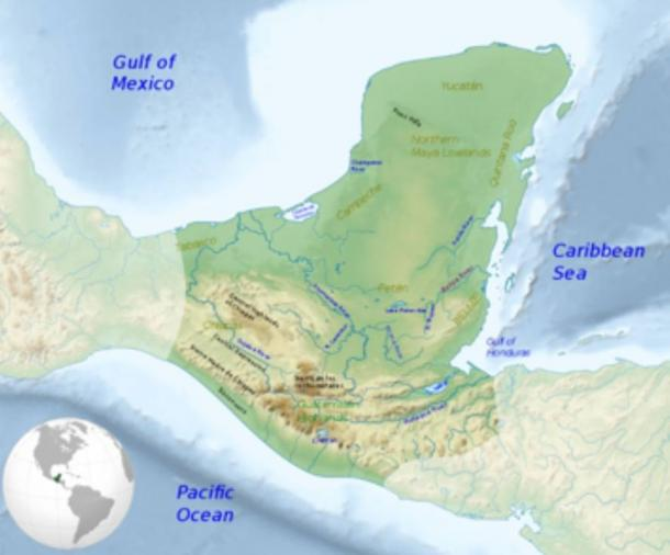 Maximum extent of the Maya civilization.