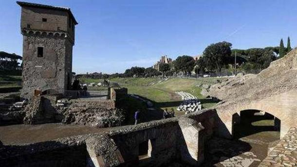 A section of the Circus Maximus after reconstruction.