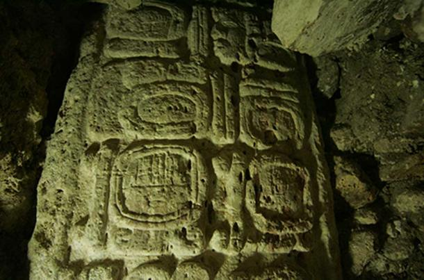 Maya Snake Queen Lady Ikoom as depicted on Stela 44.