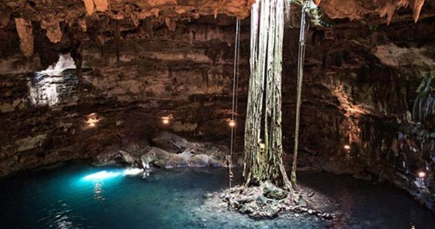 Maya cenote named Samula near Valladolid, Mexico.