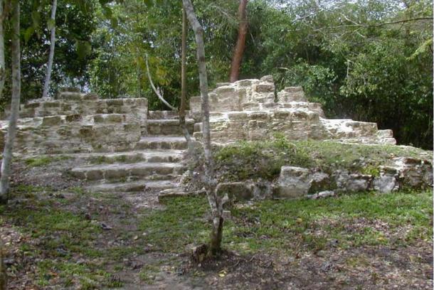 "The Maya house site Tzunu'un at the ancient Maya city center El Pilar (Belize/Guatemala). Tzunu'un means ""hummingbird"" in Mayan."