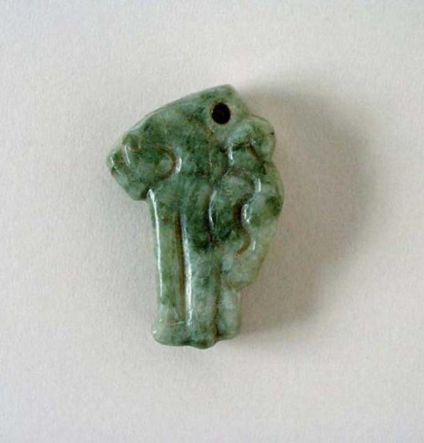 A Maya jade serpent head pendant. Mexico, Chiapas or Guatemala, 200-900 AD. (Public Domain )