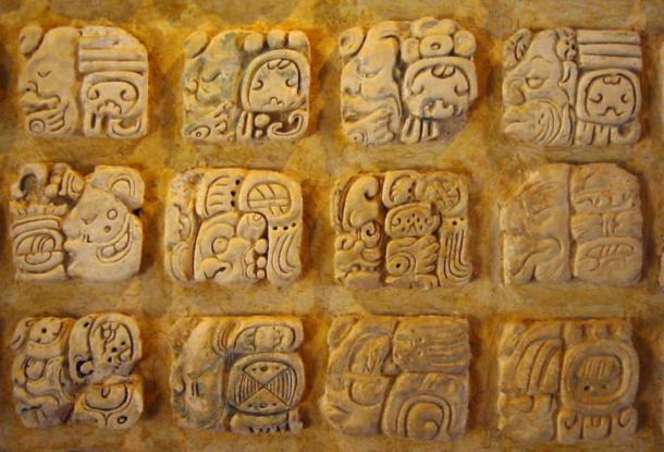 Mayan script is typically in the form of blocks, which can represent a sound, word, or sentence.