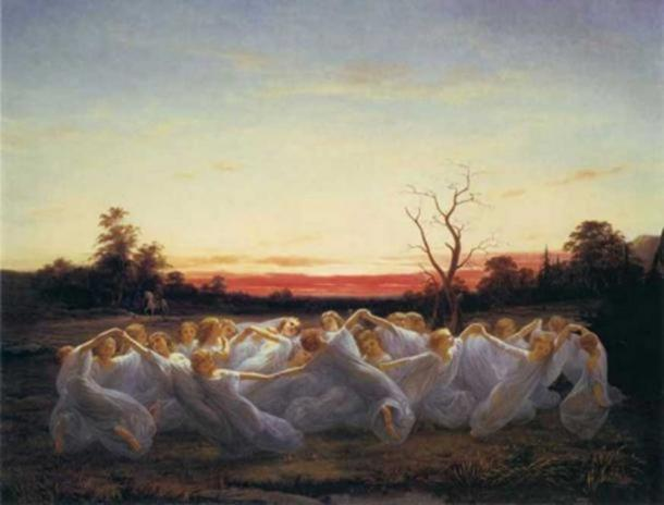 'Meadow Elves' (1850) by Nils Blommér.