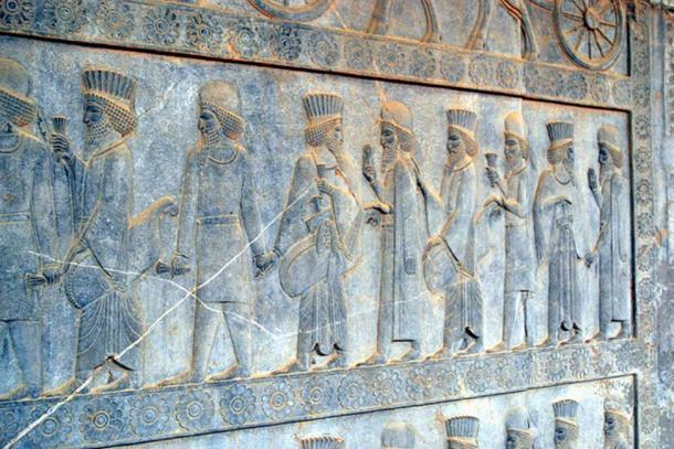 Medes and Persians at the eastern stairs of the Apadana in Persepolis, Iran.