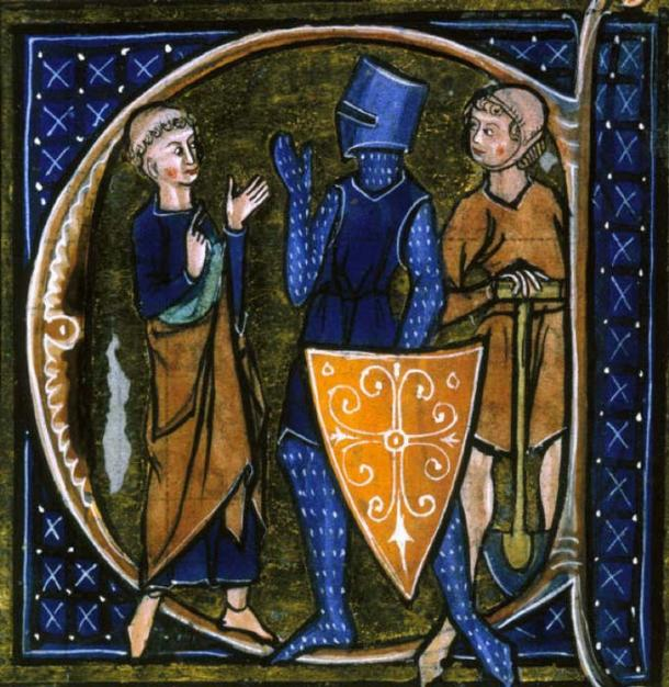 Medieval French manuscript illustration of the three classes of medieval society: those who prayed (the clergy) those who fought (the knights), and those who worked (the peasantry). (Public Domain)