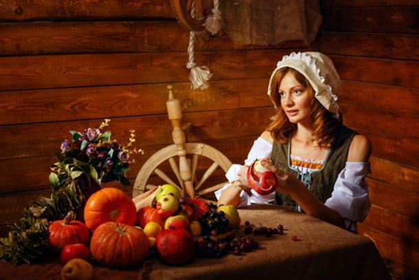 Medieval Peasant Woman  (Vagengeym /Adobe)