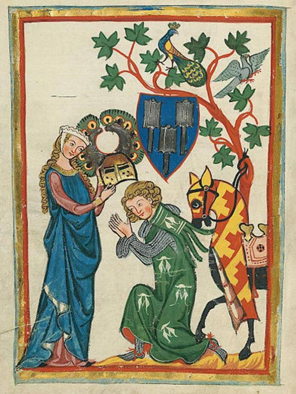"Medieval knights took the peacock vow as a sort of ""New Year's resolution"" for chivalry."