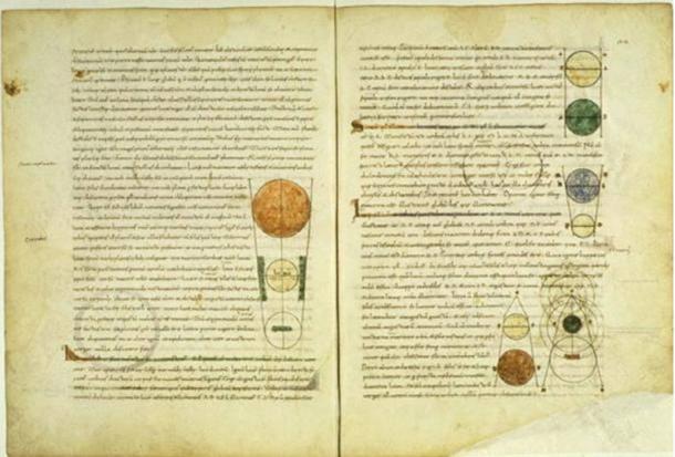 Medieval manuscript of Calcidius' Latin translation of Plato's Timaeus.