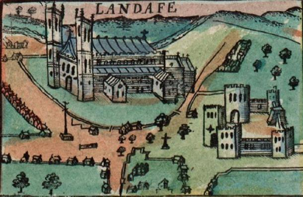 Medieval map of the area where the medieval building was found. (Jason.nlw / Public Domain)