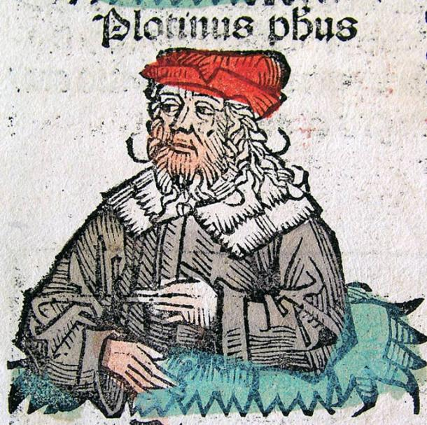 A Medieval representation of Plotinus.