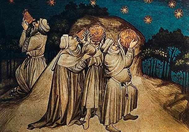 Medieval stargazers. People have been fascinated by the stars and their possible influence over our lives, long before and after the time of Babylonian astrology