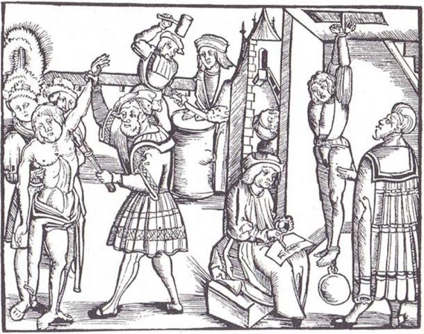 16th century depiction of Medieval torture. (Public Domain)