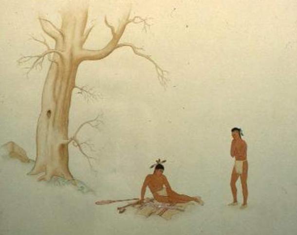 Meeting of Hiawatha and Deganawida by Sanford Plummer