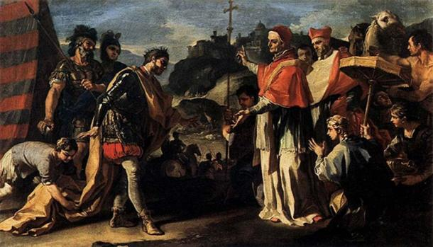 'The Meeting of Pope Leo and Attila' by Francesco Solimena
