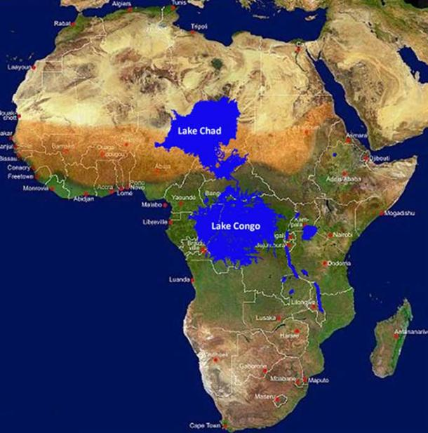 Megalakes that formerly existed in Africa. (Author provided)