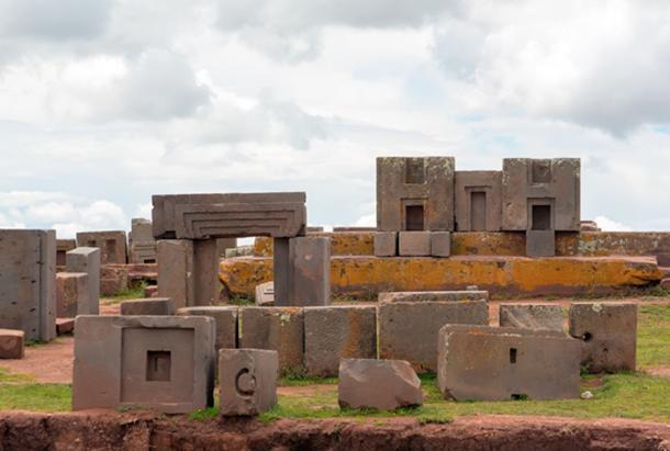 Megalithic cut stones at the Puma Punku complx, Tiwanaku. (dmitriy_rnd / Adobe Stock)