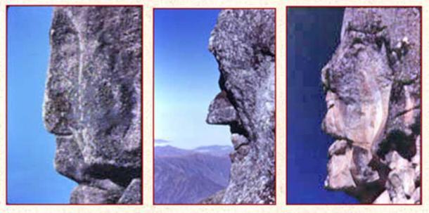 Megalithic faces at Marcahuasi, Peru