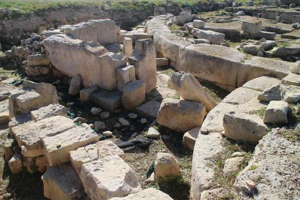 Megalithic ruins at Tas-Silġ, Triq Xrobb l-Għaġin in Marsaxlokk, Malta. (Zugraga/CC BY SA 4.0)
