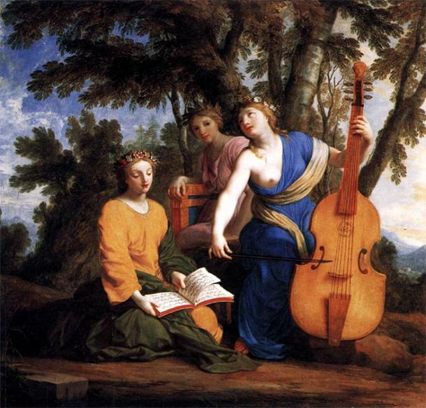 The Muses Melpomene, Erato, and Polyhymnia. (Mattes / Public Domain)