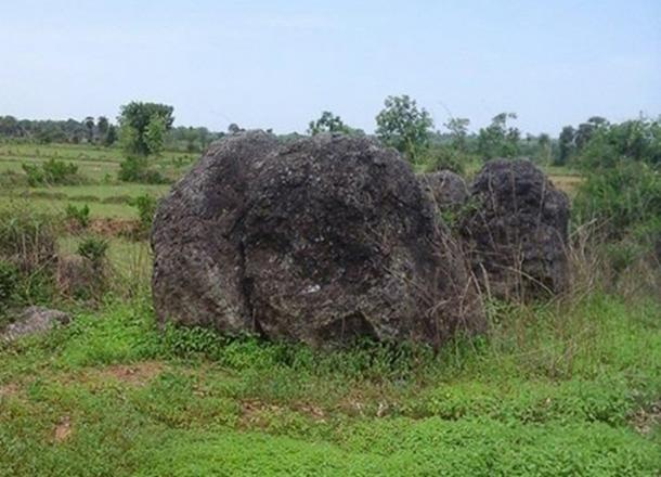 Menhir at Dannanapeta Megalithic site, Srikakulam district, Andhra Pradesh