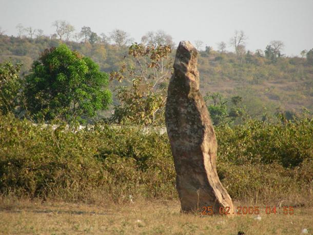 Menhir at Nagbhid in Chandrapur district of Maharashtra