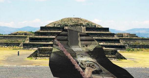 Mercury River under Pyramid of the Sun, Mexico