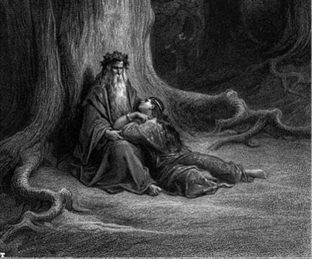Merlin y Vivien