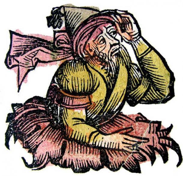 Merlin,  from the Nuremberg Chronicle, 1493.