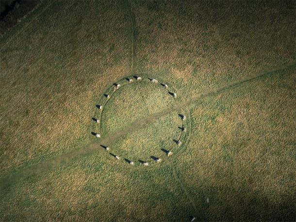 Merry Maidens is a perfect stone circle in Cornwall. (Newlands Aerial /Adobe Stock)
