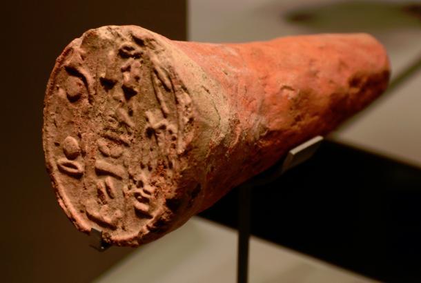 Cono funerario de la tumba de Merymose, Egipto, Tebas, barro cocido.  Merymose era el virrey de Kush bajo Amenhotep III (18ª dinastía).