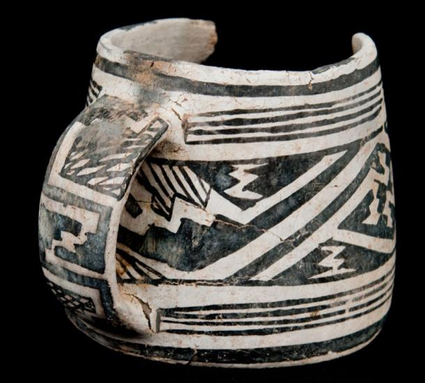 Mesa Verde black-on-white mug (c) Crow Canyon Archaeological Center; BLM-Anasazi Heritage Center
