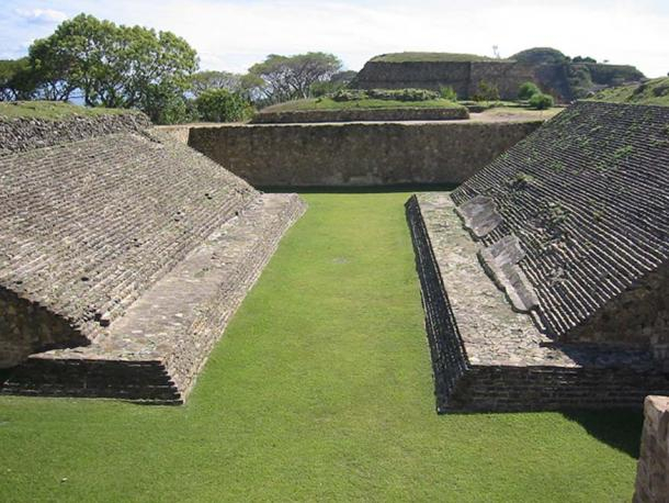 Mesoamerican ball game court in Monte Alban