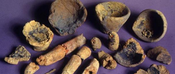 Metal objects, pipes, crucibles and slag found at Tel Dan Nelson Glueck School of Biblical Archaeology