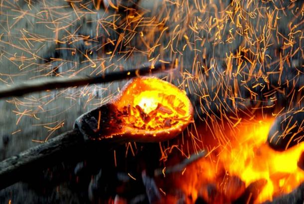 Metallurgy was a hot business during the Bronze Age, but most of the metal was recycled. (© Maikel Kuijpers, Author provided)