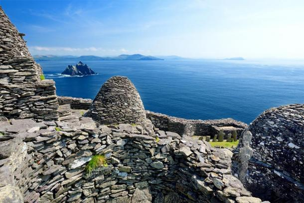 Skellig Michael Island or Great Skellig, home to the ruined remains of a Christian monastery and scenes from two Star Wars movies, Country Kerry, Ireland. (MNStudio / Adobe stock)