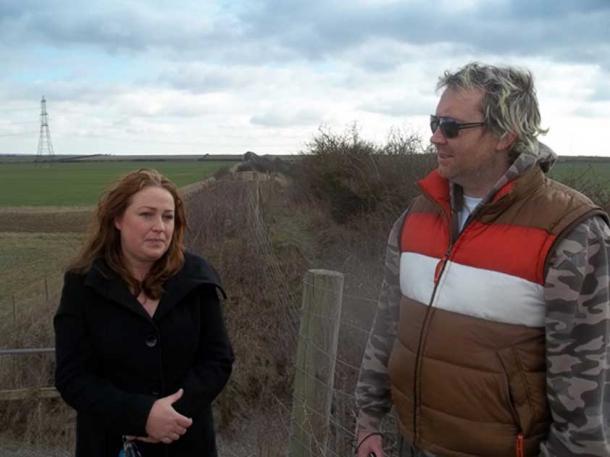 Archaeologist Michelle Bullivant and Author Hugh Newman. Credit: Hugh Newman