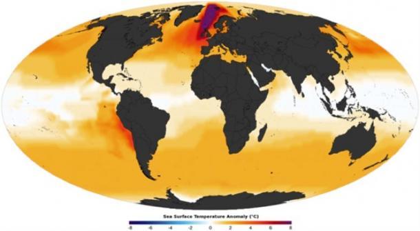 Mid-Pliocene reconstructed annual sea surface temperature anomaly (Giorgiogp2 /CC BY-SA 3.0)
